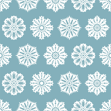 Seamless Christmas pattern with snowflakes for textiles, interior design, for book design, website background Vector
