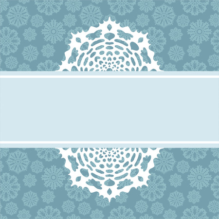 Decorative Christmas background with snowflakes and place to text for design Vector