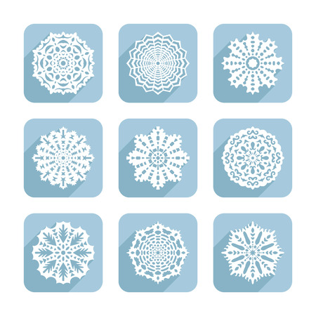 Set of decorative snowflakes for design Vector