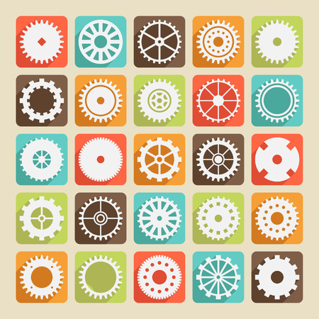 Set of gear wheels for design Vector