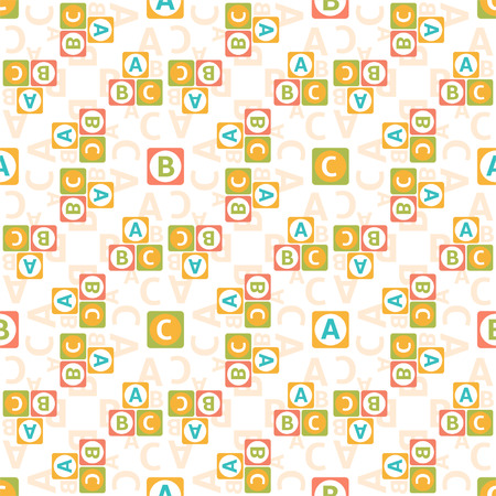 Seamless pattern of letters for textiles, interior design, for book design, website background Vector
