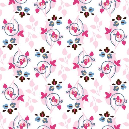 Seamless color decorative flower for textiles, interior design, for book design, website background Vector