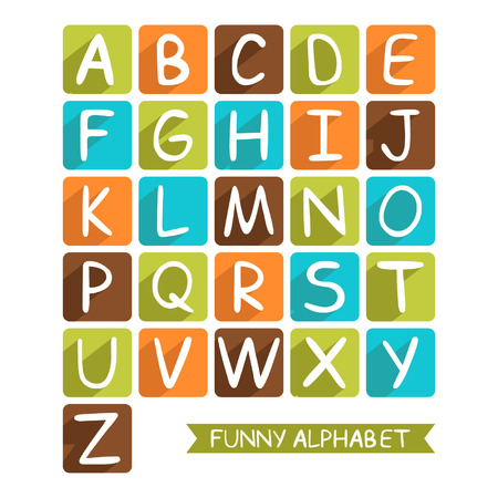 Funny alphabet for children for design Vector