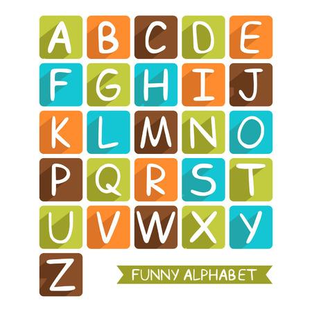 Funny alphabet for children for design Ilustracja
