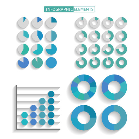 Set of infographics elements for design Vector