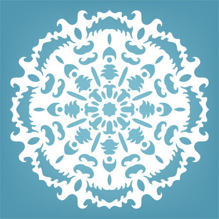 Decorative snowflake, Christmas lace ornament for design Vector