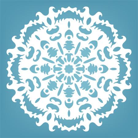 Decorative snowflake, Christmas lace ornament for design Vector