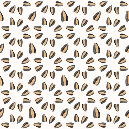Seamless pattern with sunflower seeds for textiles, interior design, for book design, website background Vector