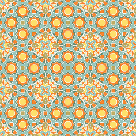 Seamless geometric mandala pattern, abstract background for textiles, interior design, for book design, website background Vector