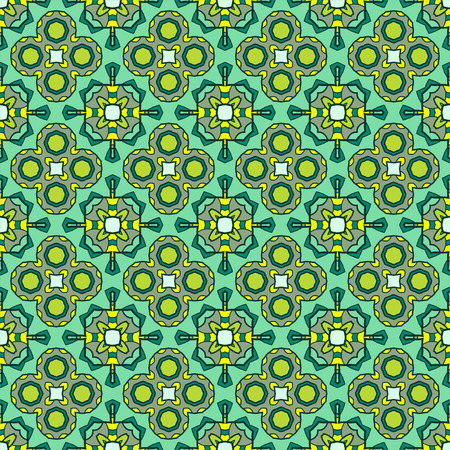 Seamless ornate geometric pattern, abstract background for textiles, interior design, for book design, website background Vector