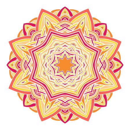 Circular decorative ornament, arabic pattern for design Vector
