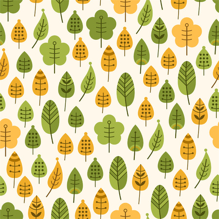 Seamless background with leaves, leaf fall for textiles, interior design, for book design, website background Vector