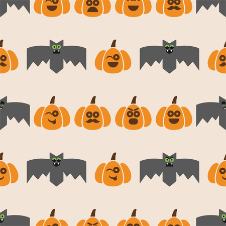 Icono De Calabaza De Halloween, Variación De Emoción. Elementos De ...