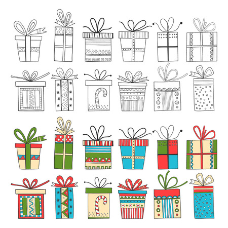 Set of gift packages, Christmas gifts