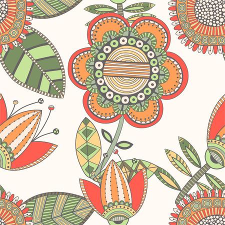 Seamless floral pattern, decorative background