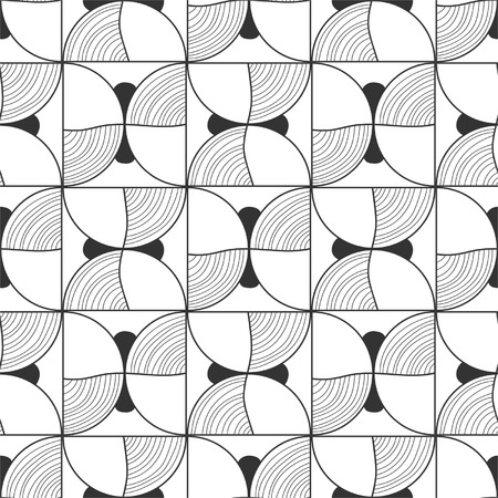 Seamless black and white abstract decorative pattern Vector