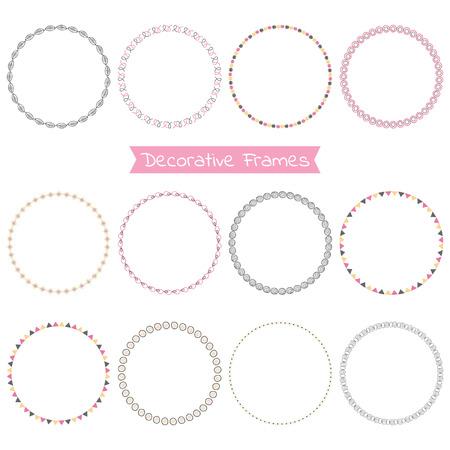 Set of decorative frames Vector