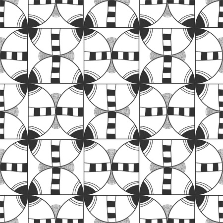 Seamless black and white abstract decorative pattern