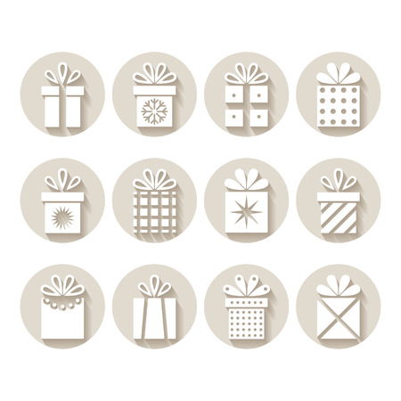 Set of gifts, packages 일러스트