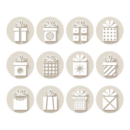 Set of gifts, packages Ilustração