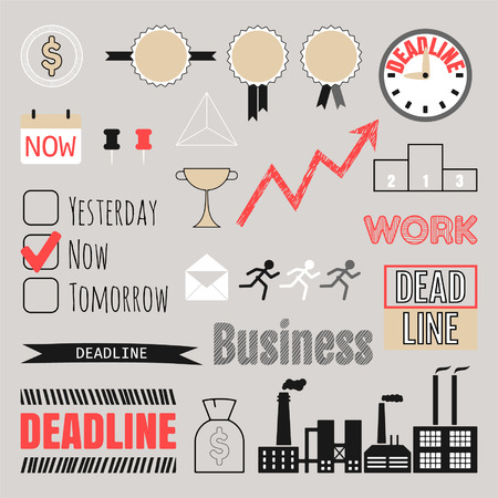 Business set, frames, infographic elements, icons Vector