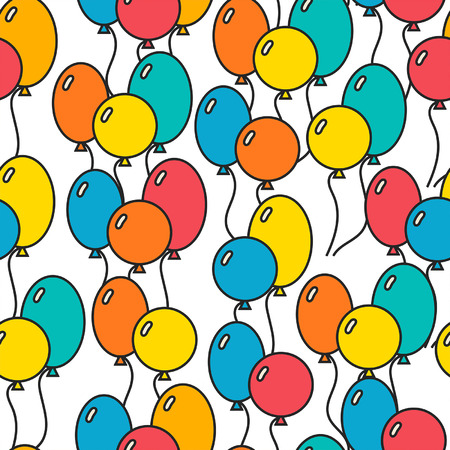 Seamless, holiday background with balloons, decorative background for design Vector