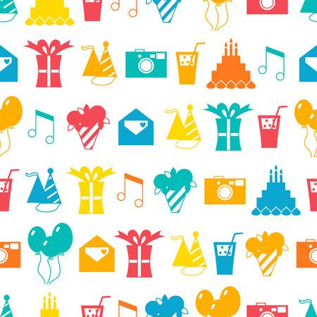 Seamless holiday pattern, festive background Illustration