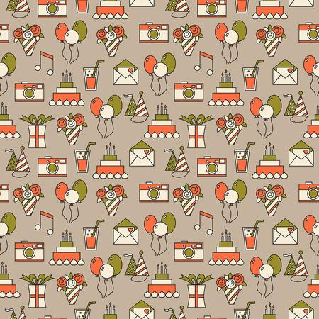 festive background: Seamless holiday pattern, festive background Illustration