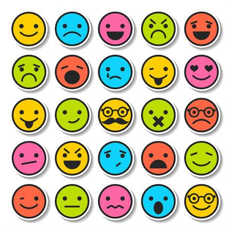 Set van emoticons, tekens pictogrammen