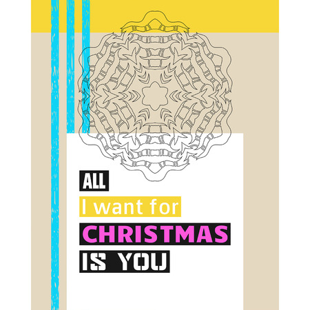 i want you: All I want for Christmas is you. Christmas Greeting. Lettering