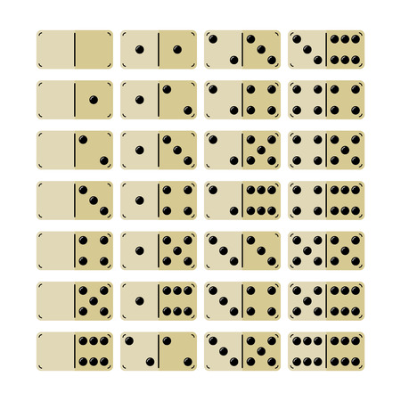 gambling stone: Set of domino. Icons, Objects, Symbols for Games Stock Photo