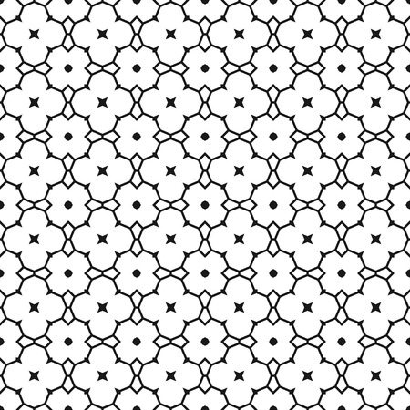 doodle art: Seamless black and white abstract decorative pattern for coloring book, illustration Illustration
