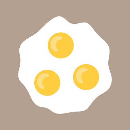 scrambled: Scrambled eggs . Flat icon fried eggs. Food for breakfast. Vector illustration Illustration
