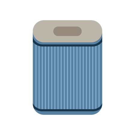 filtration: Filter. Flat icon isolated on a white background. Air purification. Vector illustration Illustration