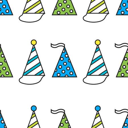 festive pattern: Party hats. Seamless festive pattern. Vector illustration Illustration