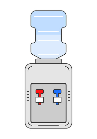 water cooler: Water cooler. Flat color icon equipment for drinking. Clean water. Vector illustration Illustration