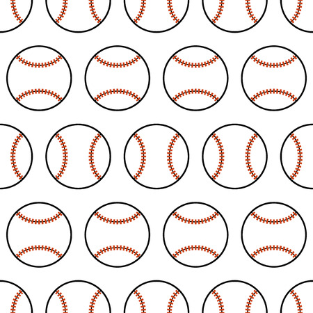fast pitch: Baseball. Seamless pattern with sport balls. Vector illustration