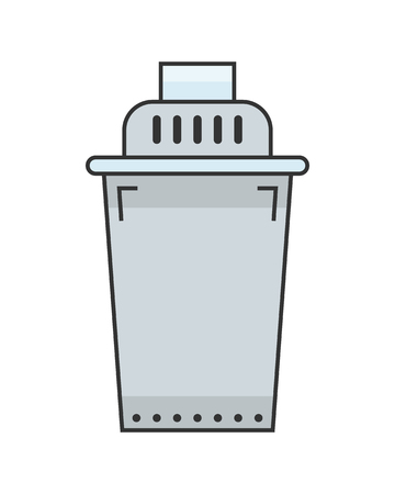 water filter: Water filter. Flat color icon and object. Water purification. Vector illustration