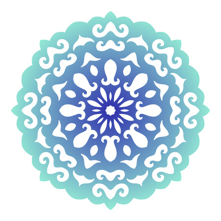 lace vector: Snowflake. Christmas pattern. Circular ornament and decorative lace. Vector illustration