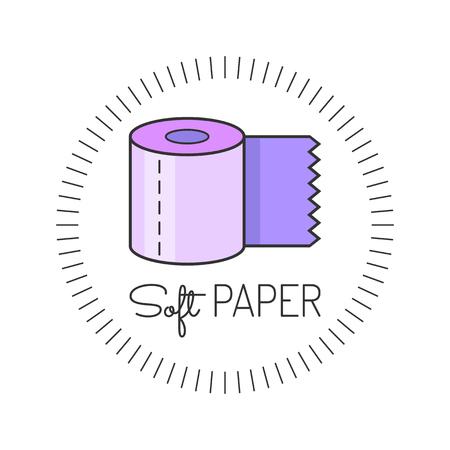 Toilet paper colored flat icon. Vector illustration. Hygiene Illustration