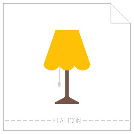light source: Table lamp. Flat color icon. Object of interior, light source. Vector illustration Illustration