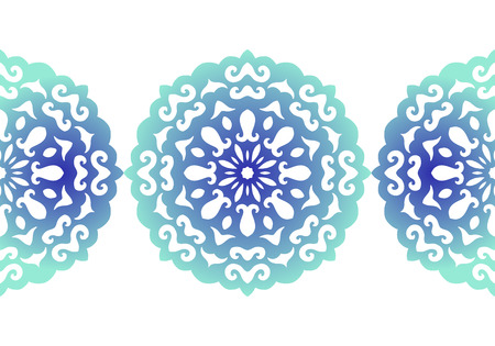 lace vector: Snowflake. Christmas seamless pattern. Circular ornament and decorative lace. Vector illustration