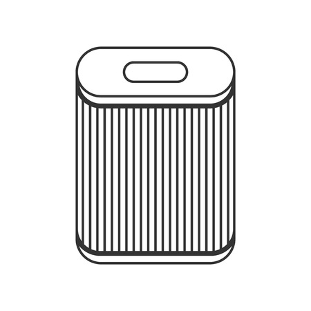 absorption: Filter for air purification, dust absorption. Flat icon. Vector illustration