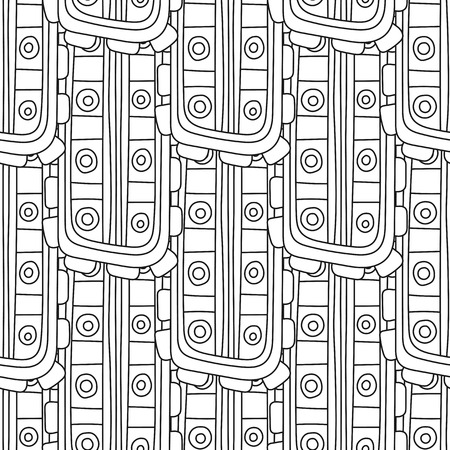Vector Negro Monocromático Dibujado A Mano Ilustración Perfecta ...