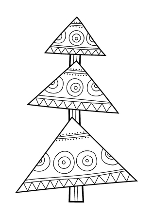 Medias De Navidad Para Regalos. Ilustración En Blanco Y Negro Para ...