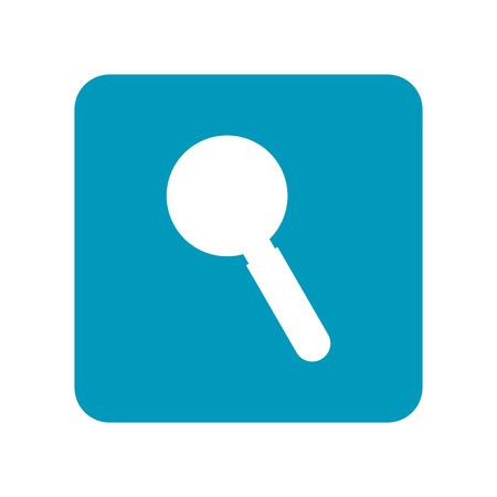 Magnifier. Flat icon of laboratory equipment for research, experiments, medicine and pharmaceuticals. Object for design. Banco de Imagens - 77436836