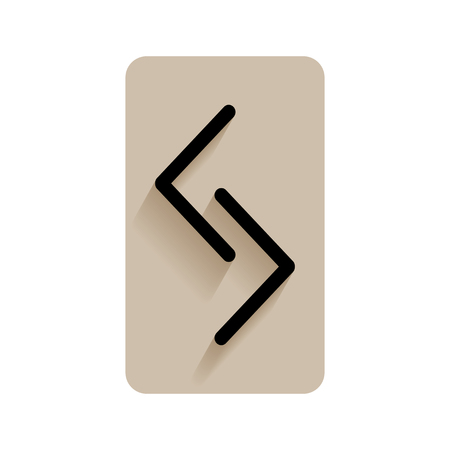 sacral: Jera. Runic alphabet and letters. Flat icon on white background for divination, prediction. Vector illustration