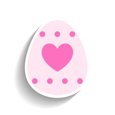 joyful: Easter egg, colored flat icon for holiday isolated on white background. Vector illustration