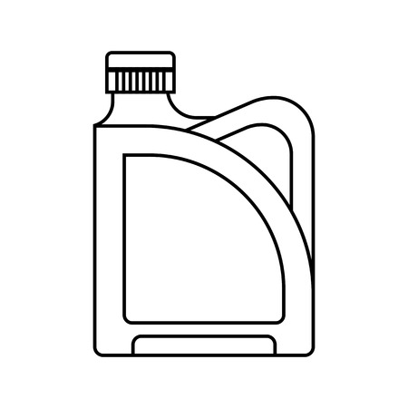 liquids: Blank plastic canister, flat icon. Packaging for oil, water and liquids. Object for design