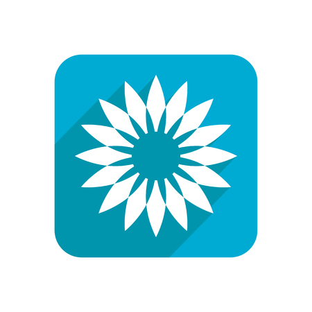 Flower, colored flat icon on a white background for design, logo. Vector